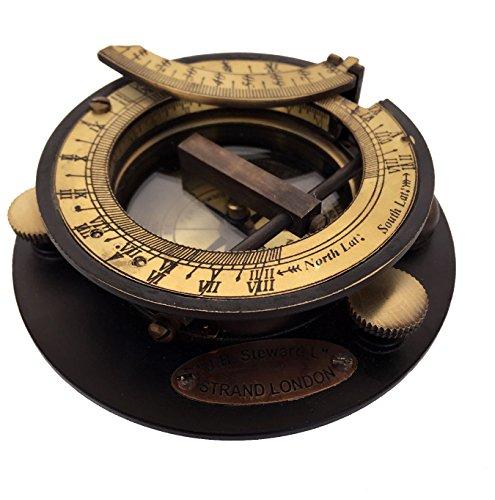 Messing Sonnenuhr Kompass