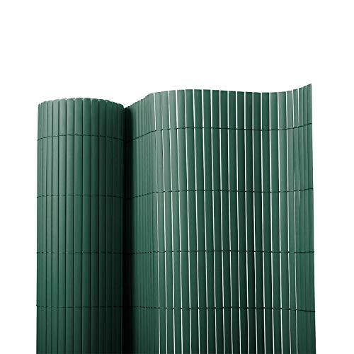 Floordirekt PVC Sichtschutz für Garten Balkon Terrasse Sichtschutzzaun  Sichtschutzmatte  Outdoor-Sichtschutz  Erhältlich in vielen Farben und Größen 150 x 300 cm Grün