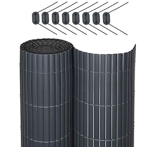 Sol Royal SolVision P78 - PVC Sichtschutz für Balkon Terrasse 120 x 300 cm Anthrazit Sichtschutzzaun Sichtschutzmatte