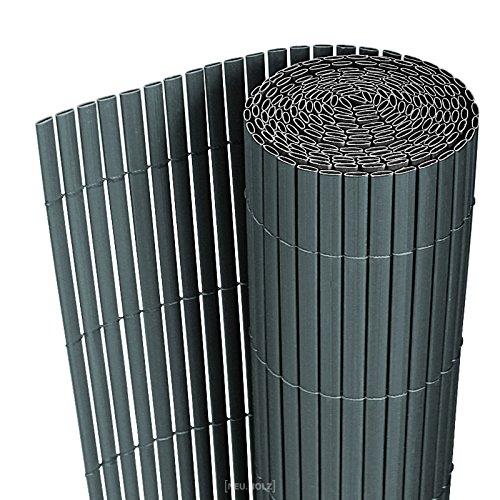 neuhaus PVC Sichtschutzmatte 90x300cm grau Sichtschutz  Windschutz  Gartenzaun  Balkon Umspannung  Zaun