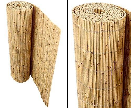 Schilfrohrmatten Premium für Balkon Beach 90 hoch x 600cm breit ein Produkt von bambus-discount - Sichtschutz Matten Windschutzmatten