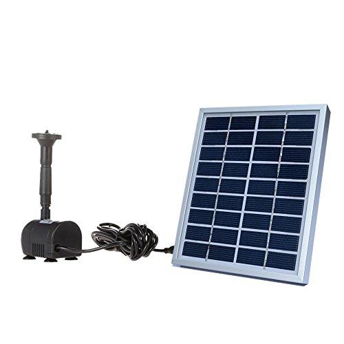 Decdeal 9V 2W Solar Teichpumpe Bürstenlose Solar-Brunnen Wasserpumpe mit Solarpanel