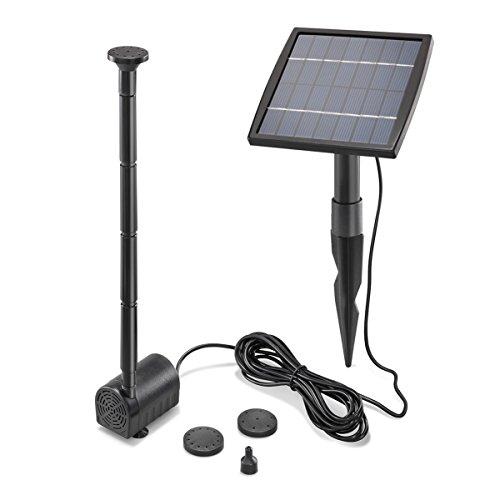 Solar Teichpumpe 15 Watt Solarmodul 140 lh Förderleistung 80 cm Förderhöhe esotec pro Komplettset Gartenteich 101905