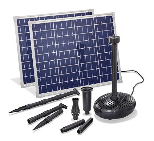 Solar Teichpumpe 100 Watt Solarmodul 3400 lh Förderleistung 3 m Förderhöhe esotec pro Komplettset Gartenteich 101918
