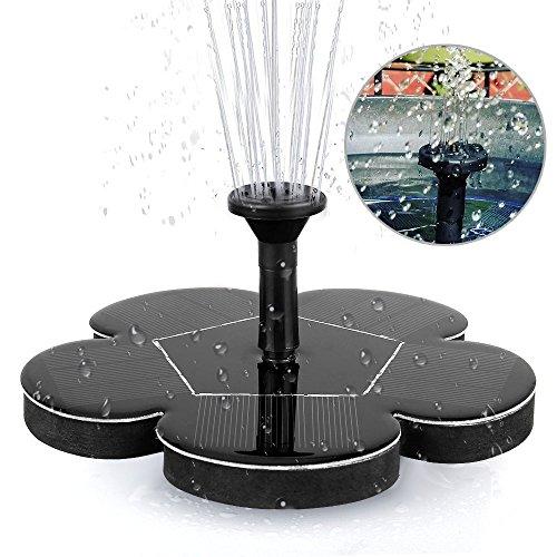 Migimi Solar Springbrunnen Solar Teichpumpe Outdoor Wasserpumpe Solarpumpe mit 14W Monokristalline Solar Panel Brunnen für Gartenteich Vogel-Bad Fisch-Behälter Kleiner Teich Garten Springbrunnen