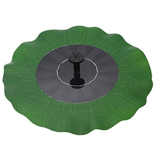 Egomall Wasserpumpe Brunnen Blatt Solar Schwimmender Lotus Teich-Garten Dekoration