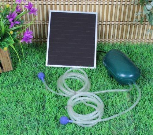 Solar Power Oxygen Sauerstoffpumpe Teichbelüfter Sauerstoff für Tag und Nacht