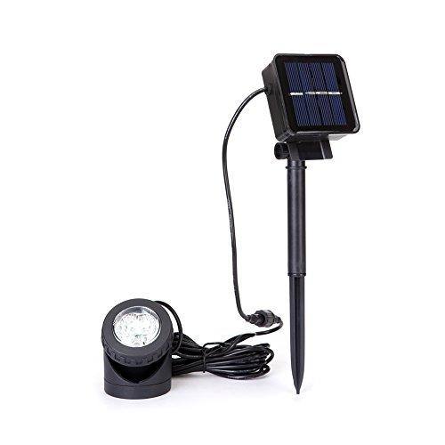 Solarbetriebene Teichlichter Unterwasser solar licht mit 6 LED 90 ° Verstellbarer Outdoor Tauchbaustein für Garten Hof Springbrunnen Pool