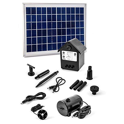 Solar Pumpe Springbrunnen NASP3 Solarpumpe mit Akku LED Teichpumpe Beleuchtung
