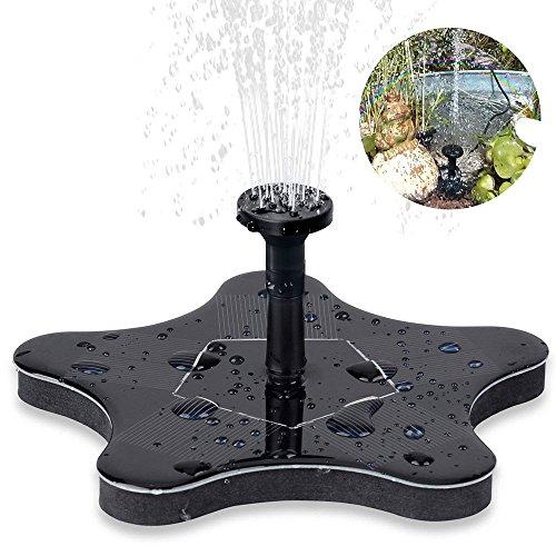 Solar Springbrunnen innislink Solar Teichpumpe Pumpe Springbrunnen Solar Schwimmender mit 14W Monokristalline Wasserpumpe Fontäne Pumpe für Gartenteiche Fisch-Behälter Vogel-Bad und kleiner Teich