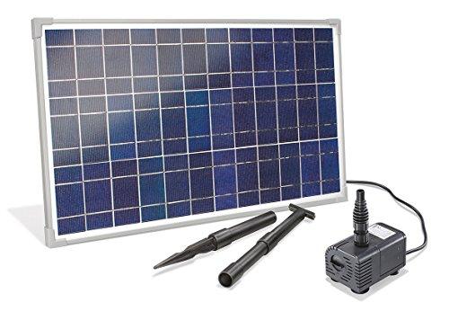 Solar Bachlaufset 25 Watt Solarmodul 1600 lh Förderleistung 23 m Förderhöhe Komplettset Gartenteich 101018