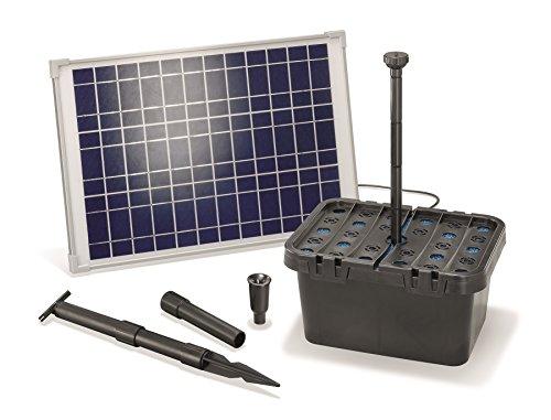 Solar Teichfilterset Starter 1300 lh Förderleistung 20 W Solarmodul Komplettset bis 4000l Gartenteich 101067
