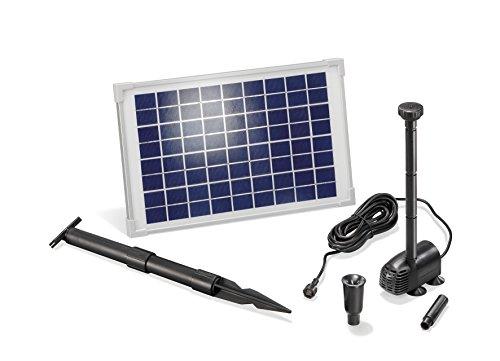 Solar Teichpumpe 10 Watt Solarmodul 610 lh Förderleistung 15 m Förderhöhe Komplettset Gartenteich 101013