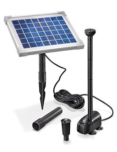Solar Teichpumpe 5 Watt Solarmodul 470 lh Förderleistung 09 m Förderhöhe Komplettset Gartenteich 101012