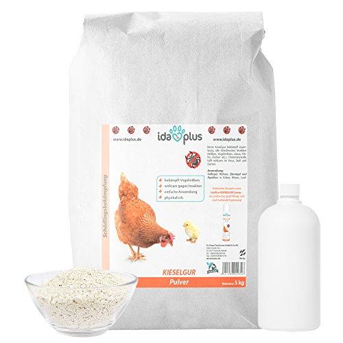 Ida Plus Kieselgur Sack - Kieselerde Pulver für Hühner Geflügel Kaninchen 5 kg