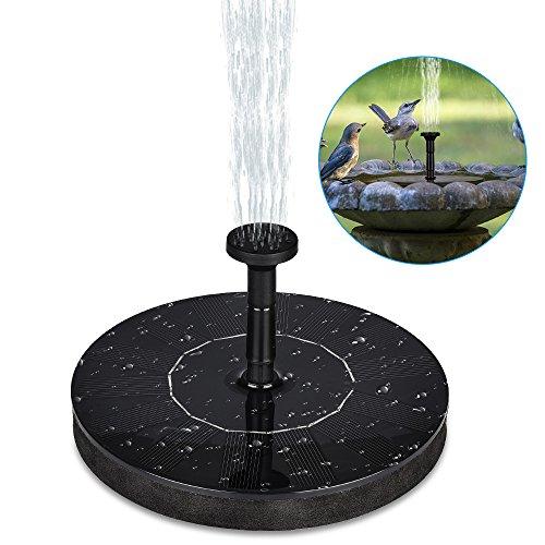 HWeggo Solar Springbrunnen Teichpumpe Schwimmend mit 14W Monokristalline Solar Panel Springbrunnen Pumpe für Gartenteich Vogel-Bad Fisch-Behälter Kleiner Teich
