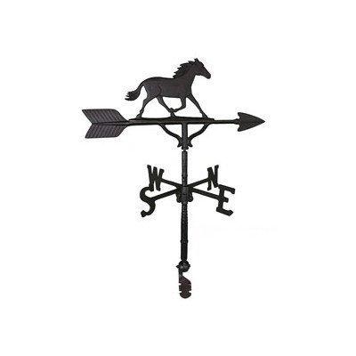 Montague Metal Products Wetterfahne mit Pferdeornament 81 cm satiniert Schwarz