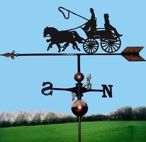 OriginalForgery Coach Zwei Pferde Wetterfahne handgefertigt sehr hohe Qualität
