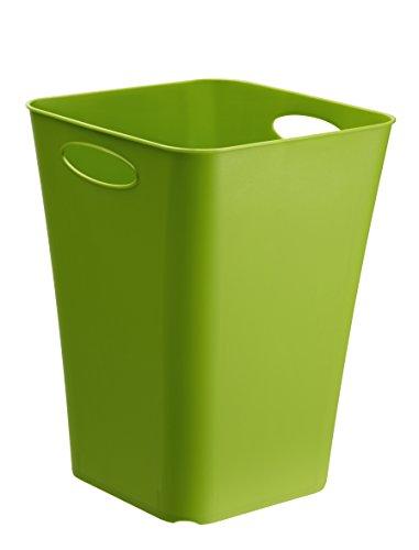 Design-Aufbewahrungsbox Living aus Kunststoff PP universell einsetzbar auch als Schirmständer oder Geschenkpapier-Organizer 23 l ca 295 x 295 x 395 cm LxBxH grün