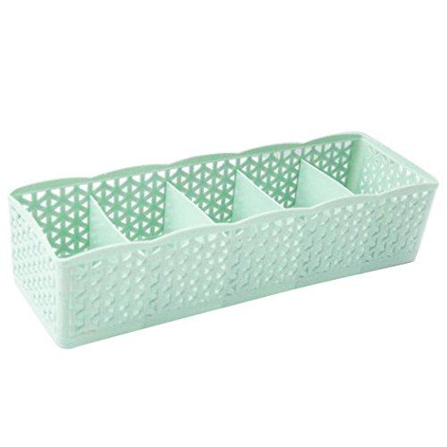 Goodtimes28 Aufbewahrungsbox für Krawatten Socken Unterwäsche Kosmetik Organizer für Schublade Trennwand Wandregal Zubehör grün