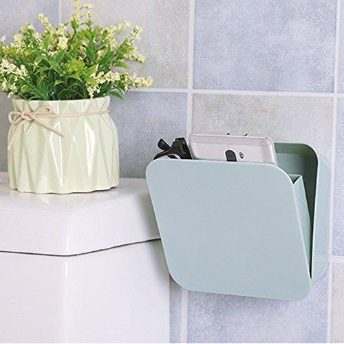 Wuudi Mini-Aufbewahrungsbox zum Aufhängen versiegelt Kunststoff multifunktional für Badezimmer Kosmetik und Toilette Plastik grün 14  55  14 cm