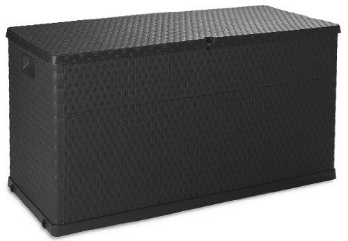 TOOMAX Auflagenbox Kissenbox 420 L Rattan Anthrazit 120 x 57 x 63 cm