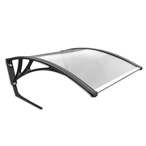 MCTECH Carport für Mähroboter Garage für Rasenmäher Roboter Polycarbonat Regenschutz Sonnenschutz Pultvordach Dach Haustürvordach