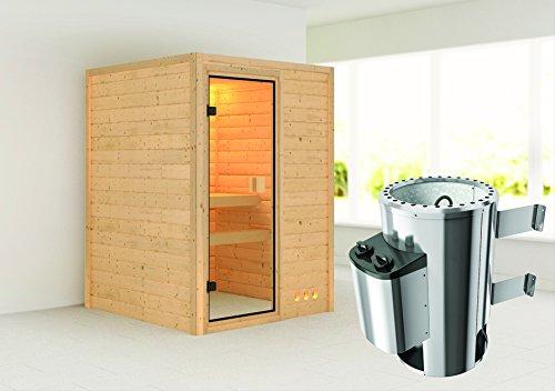 Nadja - Karibu Sauna Plug Play inkl 36 kW-Ofen - ohne Dachkranz -