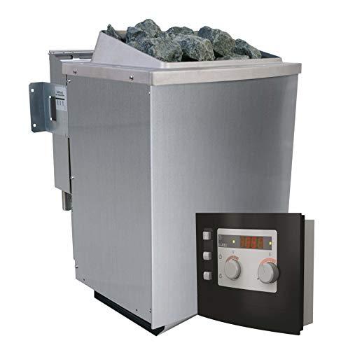 Unbekannt Karibu 9 kW Bio-Kombiofen Saunaofen inkl Steuergerät Modern- Sparset