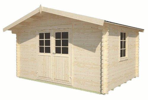 Gartenhaus Elbe Gerätehaus Blockhaus ca 400 x 300 cm 34 mm doppelte NutFeder
