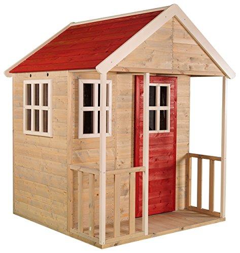 Wendi Toys Kinder Sommer Nordisches Gartenhaus aus Holz  Kinder Garten Spielhaus Geschlossener Typ M Größe mit Balkon Plexiglasfenster Spielzeug Regal Vollständige Tür