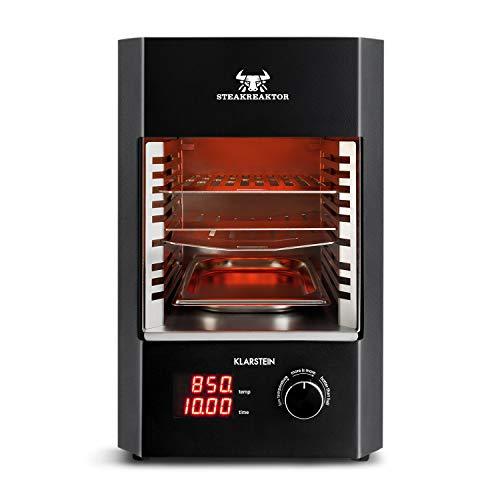 Klarstein Steakreaktor 20 • Hochleistungsgrill • Elektrogrill • Hochtemperatur-Grill • 850°C • Keramik-Heizelemente • Abschaltautomatik • herausnehmbarer Grilleinsatz • Made in Germany • schwarz