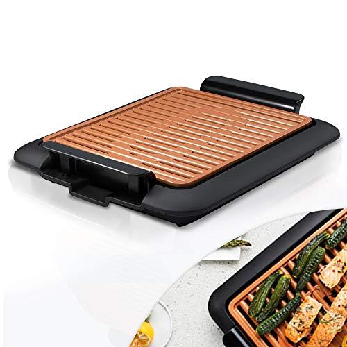 Mediashop Livington Smokeless Grill Tischgrill rauchfrei Indoor Griller BBQ inkl Grillrost Fettauffangschale  Das Original aus dem TV
