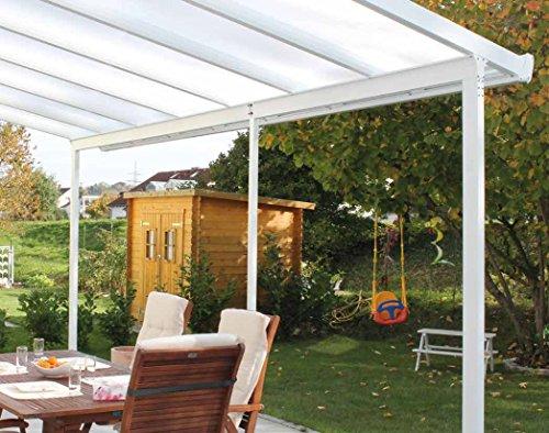 Gutta Terrassenüberdachung Aluminium weiß Typ E 4260 mm breit 4060 mm tief