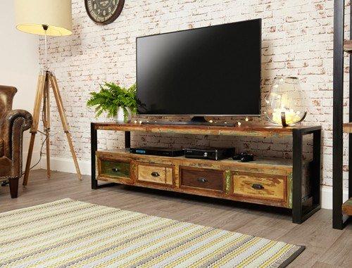 TV-Schrank Baumhaus Urban Chic offen für Breitbildfernseher Fernseher bis zu 80 Zoll 203 cm