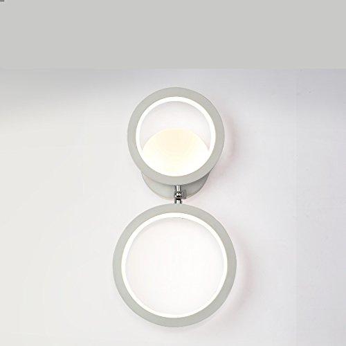 XIAPENGGeführte Nachttischlampe einfache kreative moderne Wohnzimmer TV Schrank Wand Lichter Gang Beleuchtung Zimmer Schlafzimmer rotierende Wandleuchte