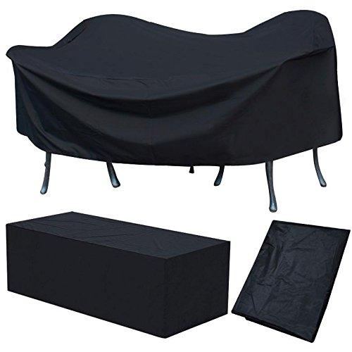 Yaheetech Abdeckplane für Gartenmöbel Schutzhülle Abdeckhaube Abdeckung 240 x 136 x 88 cm schwarz