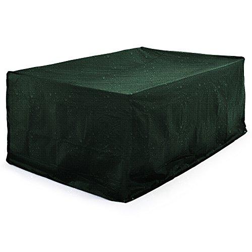 Deuba Abdeckung Sitzgruppe 308x138x89cm  Wetterfest Schutzhülle PE  Tisch Stuhl Garten Gartenmöbel Plane