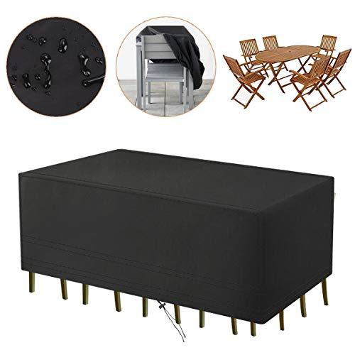 Aimego Gartenmöbel Abdeckplane WasserdichtSchutzhülle für Tisch Sofa Liegestuhl Stühle 213x132x74CM