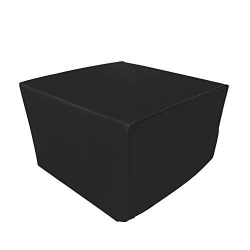 Demarkt Schutzhülle Gartenmöbel Möbel Schutzhülle Abdeckhaube Polyester Hülle für Tisch Stühle Tabelle Sitzgruppe Wasserdicht Staubschutz Schwarz 123×123×74 cm484×484×291 inch