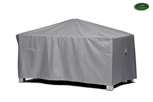 Premium Schutzhülle für Gartentisch rechteckig aus Polyester Oxford 600D - lichtgrau - von mehr Garten - Größe L 175 x 105 cm