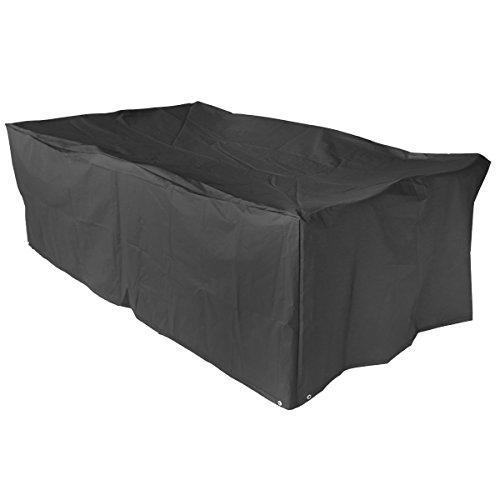 Schutzhülle für Gartenmöbel abdeckhaube gartentisch Abdeckung Gartenmöbel Schutzhülle und Abdeckplane für rechteckige Sitzgarnituren und Gartentisch 213x132x74cm
