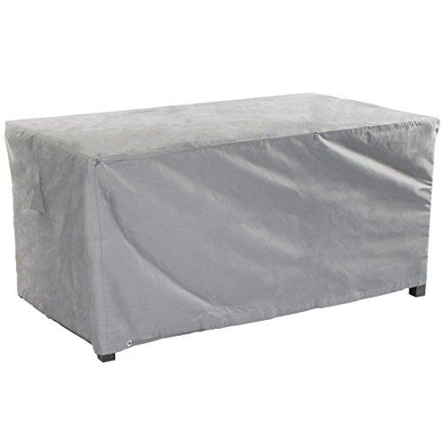 Ultranatura Gewebe-Schutzhülle Sylt für rechteckigen Gartentisch Wetterschutzhülle für eckige Tische 125 x 70 x 94 cm