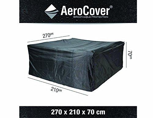 AeroCover Atmungsaktive frostbeständige und Wasserdichte Schutzhülle in anthrazit für Lounge Möbel in praktischer Tragetasche 270 x 210 x 70 cm 7938