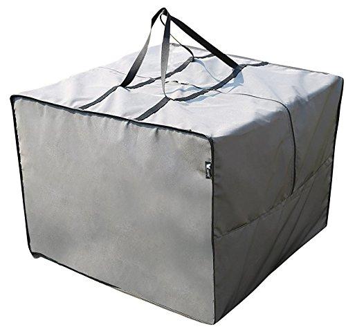 SORARA AufbewahrungstascheCover für Loungekissen  Grau  80 x 80 x 60 cm L x B x H Schutzhülle Semi-Wasserabweisend  Polyester  für Outdoor Garten Möbel