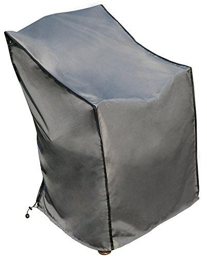 SORARA SchutzhülleCover Stuhl  Grau  67 x 67 x 80110 cm L x B x H  Wasserabweisend Polyester PU Coating UV 50  Premium  AbdeckhaubeWetterschutz  Regenfest  für Outdoor Garten Möbel
