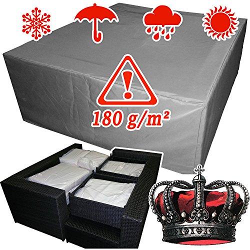 XINRO winterfeste Luxus Gartenmöbel Lounge Möbel Set Schutzhülle Hülle Haube Plane Abdeckung Abdeckplane 160x146x62cm