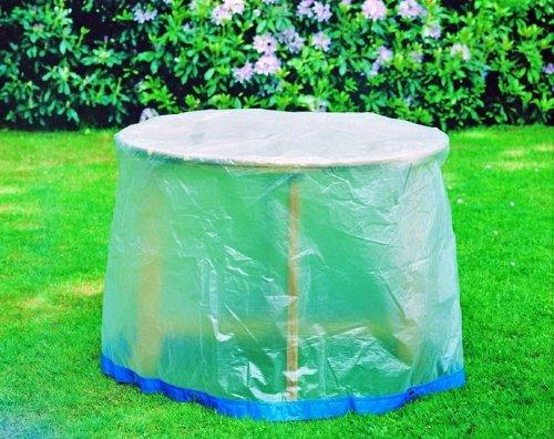 Fachhandel Plus Schutzhülle Möbelschutzhülle Gartenmöbel Abdeckung Gartentisch rund mit Ösen