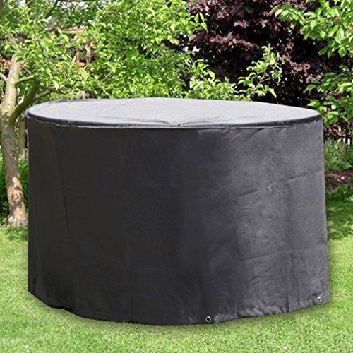 OUTAD Gartenmöbel Abdeckung Rund Wasserdicht Schutzhülle Abdeckplane für Möbelsets Gartentisch und Stühle Ø 188 x 84cm