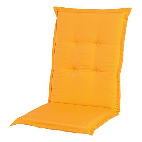 Adlatus-Kühnemuth - Gartenstuhlauflage - Polsterauflage - Sitzauflage - Classic Dessin 110 Farbe gelb orange Hochlehner Auflage 120 x 50 cm
